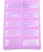 Sztuczne paznokcie tipsy 100 szt bezbarwne kwadrat