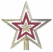 Gwiazda na choinke złota dekoracja święta stroik