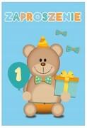 Zaproszenie koperta na roczek chłopczyka urodziny