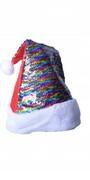Czapka świąteczna Mikołaja święta kolorowa cekiny