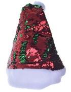 Czapka świąteczna Mikołaja święta cekiny czerwona