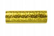 Serpentyna złota holograficzna 18 pasków 3,8 m