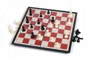 Zestaw mini szachów magnetyczne warcaby gra HIT