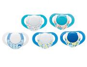 Chicco Physio Compact Niebieski Kauczukowy smoczek do uspokajania Chicco
