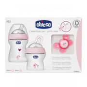 Chicco Zestaw do karmienia dla niemowląt 0m+ Zestaw do karmienia 0m+ różowy Chicco