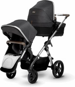 Silver Cross Wave - wózek podwójny dla bliźniąt lub rodzeństwa | Granite 6D08-384EA Silver Cross