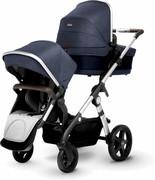 Silver Cross Wave - wózek podwójny dla bliźniąt lub rodzeństwa | Midnight Blue 1D67-583DB Silver Cross