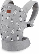 Kinderkraft Milo - ergonomiczne nosidełko | Gray KKNMILOGRY0000 Kinderkraft