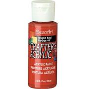 Farba akrylowa Crafter`s Acrylic 59 ml - czerwona jasna - CZEJAS DecoArt