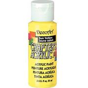 Farba akrylowa Crafter`s Acrylic 59 ml- żółta słoneczna - ŻÓŁSŁO DecoArt