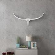 vidaXL Srebrna ozdoba ściany bycze rogi z aluminium 75 cm vidaXL 242336