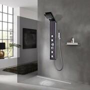 vidaXL Panel prysznicowy, szklany, brązowy vidaXL 142374