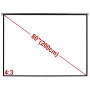 vidaXL Ekran projekcyjny na ścianę 160 x 123 cm, matowy, biały 4:3 vidaXL 240714