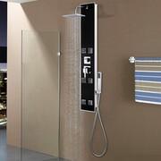 vidaXL Panel prysznicowy, szkło, 18 x 42,1 x 120 cm, czarny vidaXL 142991