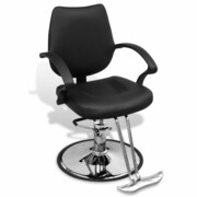 vidaXL Profesjonalny fotel fryzjerski ze sztucznej, czarnej skróry vidaXL 110121