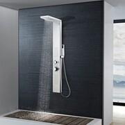 vidaXL Panel prysznicowy ze stali nierdzewnej kwadratowy vidaXL 142371