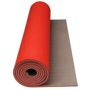 Avento mata do ćwiczeń fitness i jogi w kolorze pomarańcz/beż Avento 41WC
