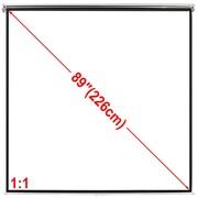 vidaXL Ekran projekcyjny na ścianę 160 x 160 cm, matowy, biały 1:1 vidaXL 240715