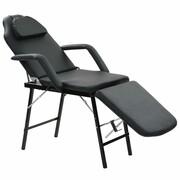 vidaXL Przenośny fotel kosmetyczny, ekoskóra, 185 x 78 x 76 cm, czarny vidaXL 110160