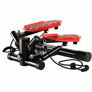 vidaXL Stepper z uchwytami i linkami oporowymi, czarno-czerwony vidaXL 91464