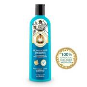 Receptury Babuszki Agafii - na 5 sokach-malina moroszka - szampon do włosów suchych i normalnych 280 ml – nawilżenie i regeneracja - borówka brusznica, organiczny ekstrakt z mydlnicy lekarskiej, olej z maliny moroszki, witamina C