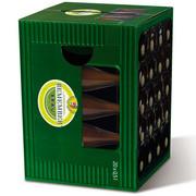 Pufa z kartonu, nowoczesny stołek zdobiony wyjątkowym wzorem - piwo Remember