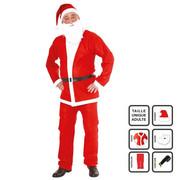 Strój Świętego Mikołaja dla dorosłych, kostium XMAS, 5 elementów Fééric Lights and Christmas