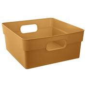 Koszyk do przechowywania CUBE, 10 L, kolor pomarańczowy - beżowy Atmosphera