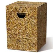 Pufa składana z tektury, nowoczesny stołek, 33 x 33 x 45 cm - Country House Remember