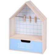 Mini komoda z szufladką i wieszakiem na zdjęcie, 28 x 20 cm, kolor jasnoniebieski - jasnoniebieski Home Styling Collection