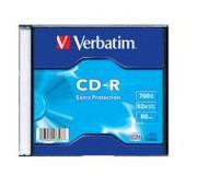 Verbatim CD-R Extra Protection Slim Case 1 szt CD-R Extra Protection Slim Case 1 szt Verbatim