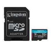Kingston microSD Canvas Go Plus 64GB 170/70MB/S U3 SDCG3/64GB