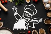 Wieszak do kuchni KUCHARZ biały