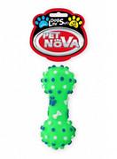 Pet Nova Hantel dentystyczny DentBone z dźwiękiem zielony [rozmiar S] 10,5cm + prezent PET NOVA