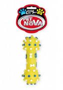 Pet Nova Hantel dentystyczny DentBone z dźwiękiem żółty [rozmiar M] 12cm + prezent PET NOVA