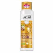 LAVERA Szampon odżywczo- regenerujący 2 w 1 Do włosów bardzo zniszczonych i przesuszonych Z wyciągiem z bio- olejami z migdałów i orzechów macadamia 250ml