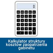 Kalkulator struktury kosztów zaopatrzenia gabinetu