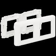 Suport podtynkowy z ramką 2x K45; czysta biel Simon Connect Kontakt Simon