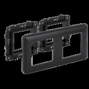 Suport podtynkowy z ramką 2x K45; szary grafit Simon Connect Kontakt Simon