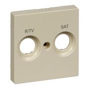 Płytka centralna oznaczona R/TV+SAT do gniazd antenowych kremowa System M Schneider Merten Schneider Electric