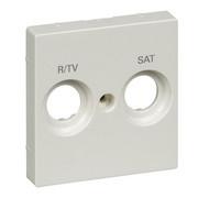 Płytka centralna oznaczona R/TV+SAT do gniazd antenowych biel polarna System M Schneider Merten Schneider Electric