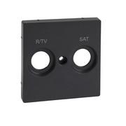 Płytka centralna oznaczona R/TV+SAT do gniazd antenowych, antracyt, system M Schneider Merten Schneider Electric