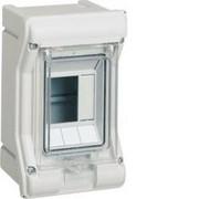 Vector outdoor Rozdzielnica n/t IP65 odporna na UV, bez przetłoczeń, 1R/6M (1x6) VE106SN Hager Hager