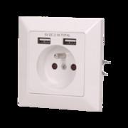 Gniazdo pojedyncze 2P+Z, USBx2 Orno OR-AE-13140 Orno