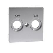 Płytka centralna oznaczona R/TV+SAT do gniazd antenowych, aluminium system M Schneider Merten Schneider Electric
