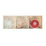 """Zestaw drewnianych ozdób świątecznych Altom """"Mix 9"""", 9 szt. Altom"""