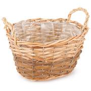 Wiklinowy koszyk, osłonka na doniczkę z folią Gala, 24 x 14 x 18 cm 687577