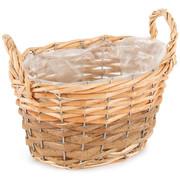 Wiklinowy koszyk, osłonka na doniczkę z folią Gala, 20 x 12 x 14 cm 687578