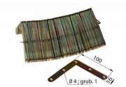 Narożnik okienny 100x100 zaokrąglony ocynk Inny