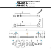 Oś piasty tył Shimano FHM570/M525/M510 M290/M475/RM40 drążona(146mm, Non-Series - RATY 0% Shimano 4524667171683